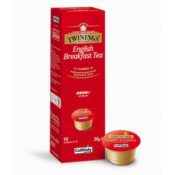 BOX 10 CPS CAFFITALY TWININGS OF LONDON ENGLISH BREAKFAST TEA
