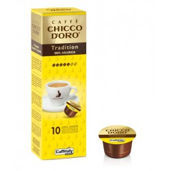 BOX 10 CPS CHICCO D'ORO TRADITION 100% Arabica